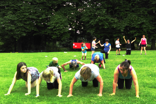 Family Bootcamp In Alexandra Palace